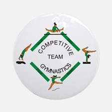 Gymnastics Competitive Team Ornament (Round)