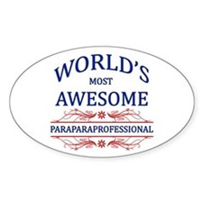 World's Most Awesome Paraprofessional Decal