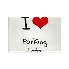 I Love Parking Lots Rectangle Magnet