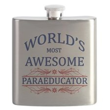 World's Most Awesome Paraeducator Flask