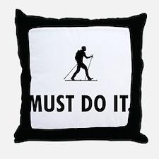 Nordic Walking Throw Pillow