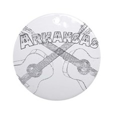 Arkansas Guitars Ornament (Round)