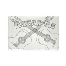 Arkansas Guitars Rectangle Magnet