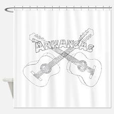 Arkansas Guitars Shower Curtain