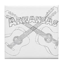 Arkansas Guitars Tile Coaster