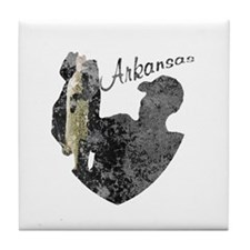 Arkansas Fishing Tile Coaster