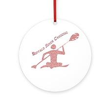 Buffalo River Canoe Ornament (Round)