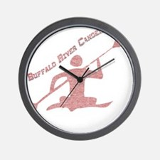 Buffalo River Canoe Wall Clock