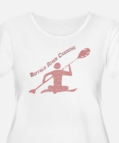 Buffalo River Canoe Plus Size T-Shirt