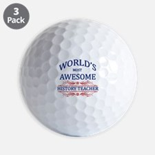 World's Most Awesome History Teacher Golf Ball