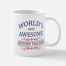 World's Most Awesome History Teacher Mug