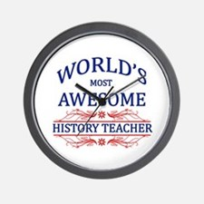 World's Most Awesome History Teacher Wall Clock
