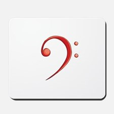 Bass Clef Casual Style Red Mousepad