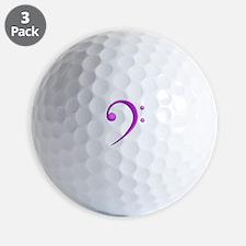 Bass Clef Casual Style Purple Golf Ball