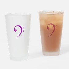 Bass Clef Casual Style Purple Drinking Glass