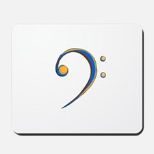 Bass Clef Casual Style Orange and Blue Mousepad