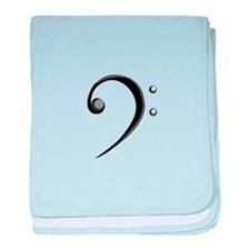 Bass Clef Casual Style Black White baby blanket