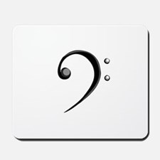 Bass Clef Casual Style Black White Mousepad