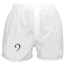 Bass Clef Casual Style Black White Boxer Shorts