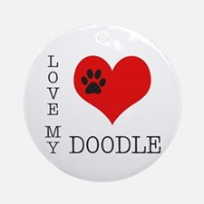 Love My Doodle Ornament (Round)