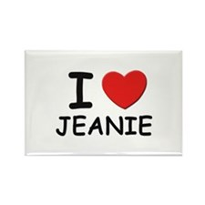 I love Jeanie Rectangle Magnet