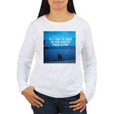 Women's Long Sleeve White T-Shirt