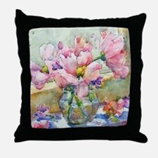 Pastels in Vase Throw Pillow