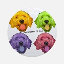 Goldendoodles Rule Ornament (Round)