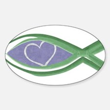 True Love Fish Oval Decal (10 pk) Decal