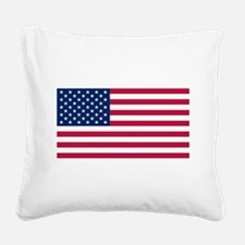 American Flag Square Canvas Pillow