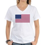 American flag Womens V-Neck T-shirts