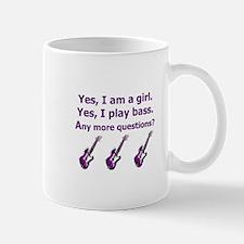 Yes I am a girl Play Bass Purple with bass Mug
