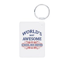 World's Most Awesome School Bus Driver Keychains