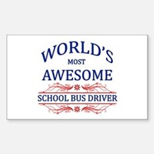 World's Most Awesome School Bus Driver Decal