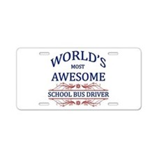 World's Most Awesome School Bus Driver Aluminum Li