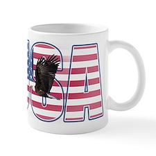 U.S.A. With Flag & Eagle Mug