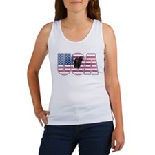 U.S.A. With Flag & Eagle Tank Top