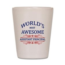World's Most Awesome Assistant Principal Shot Glas