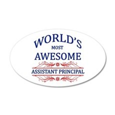 World's Most Awesome Assistant Principal Wall Decal