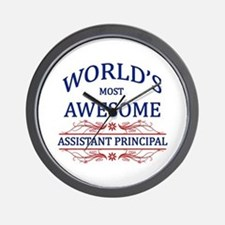 World's Most Awesome Assistant Principal Wall Cloc