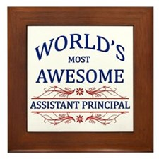 World's Most Awesome Assistant Principal Framed Ti