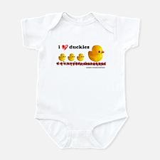 I <3 Duckies Infant Bodysuit