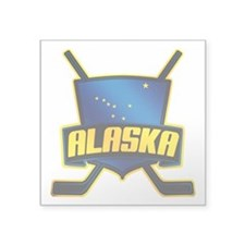 Alaska Hockey Flag Logo Sticker