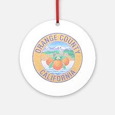 Vintage Orange County Ornament (Round)