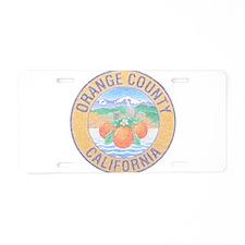 Vintage Orange County Aluminum License Plate