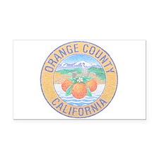 Vintage Orange County Rectangle Car Magnet