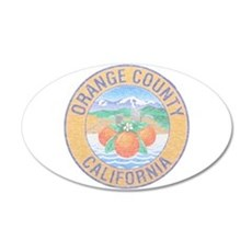 Vintage Orange County Wall Decal