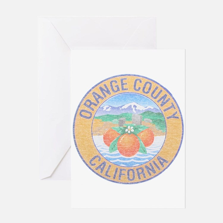 Vintage Orange County Greeting Card