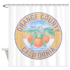 Vintage Orange County Shower Curtain
