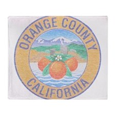 Vintage Orange County Throw Blanket